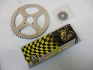 Kit-chaine-moto-MBK-50-Xlimit-1997-1999-Neuf-transmission-couronne-pignon-de
