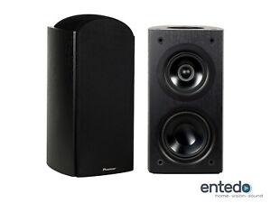 2-Pioneer-S-BS73A-LR-Dolby-Atmos-3-Weg-Regallautsprecher-Speaker-Boxen-Schwarz