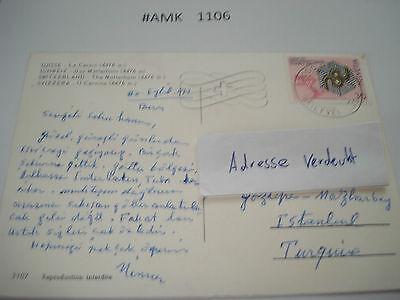 #amk1106 Beleg Brief Postkarte Ganzstück Europa Schweiz Matterhorn Cervin 4476 M