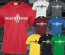 a2b5966f Beast Mode Mens T Shirt Top Unisex Gym Workout Fitness Muscle Weight Lifting