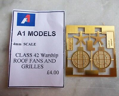 4mm Scale Class 42 Warship Roof Fans & Grilles