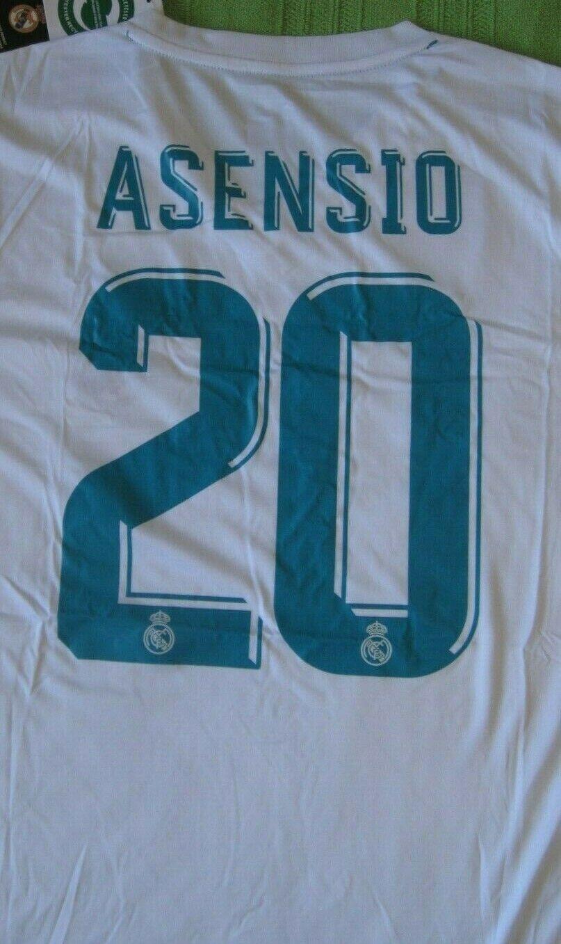Camiseta Shirt Maillot REAL MADRID Adidas 20 Marco ASENSIO Season 2018 Dimensione L