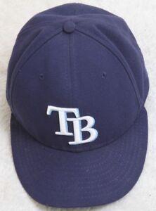 Tampy-Bay-Blue-White-Baseball-Hat-Adult-Fitted-7-1-2-Devil-Rays-MLB-New-Era-5950