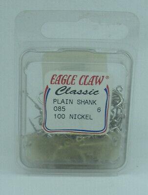 40 Eagle Claw 10//0 Baitholder Reverse kirbed Nickel Hooks Catfish Big fish