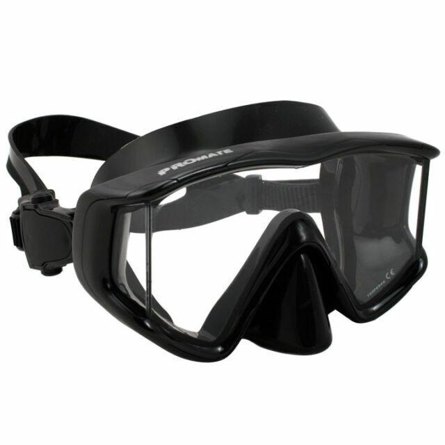 Promate MK390 Avanti Panoramic Tri-view Edgeless Scuba Dive Mask Snorkeling Gear for sale online
