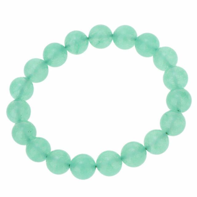 10mm 100/% Natural A Grade Green Jade Jadeite Round Gemstone Beads Bracelet