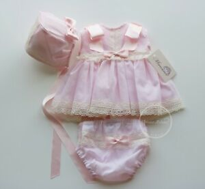 MIMOSINES-Newborn-Baby-Girl-Fancy-Baby-Outfit-Pink-Dress-Diaper-cover-Bonnet-Set