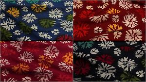 Indian-Hand-Block-Print-100-Natural-Cotton-Voile-Fabric-Sewing-Material-By-YD