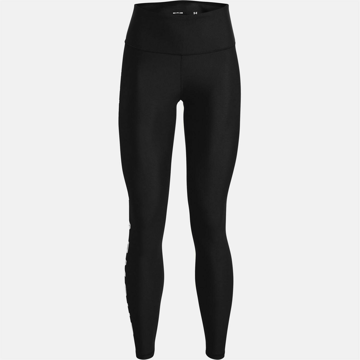 Under Armour Womens HG Branded Leggings Sports Training Fitness Gym Performance
