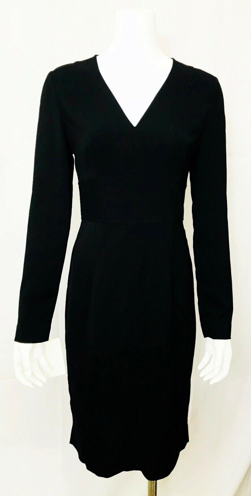 Diane Von Furstenberg robe à hommeches longues DVF mi-longue col V taille 4