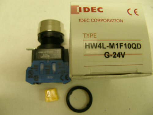 HW4L Green G-24V M1F10QD New #46 IDEC illuminated Push Button switch