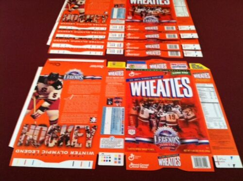 1980 Olympics Winter Olympic Champions Wheaties Box FLAT FROM FACTORY, Rare!