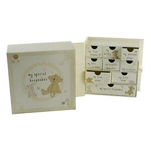 BUTTON CORNER Book Keepsake Box with Drawers NEW 16778