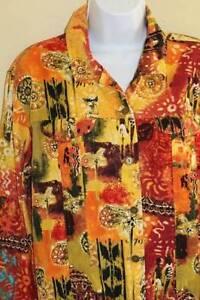 Chico's wear to Art z Wild Shirt Jacket Corduroy L 2 Funky Levende Lightweight rqXa6frxnw
