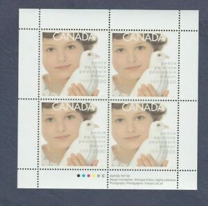Canada-Stamps-1999-Millennium-Issue-Child-amp-Dove-of-Peace-Pane-of-4-1813-MNH