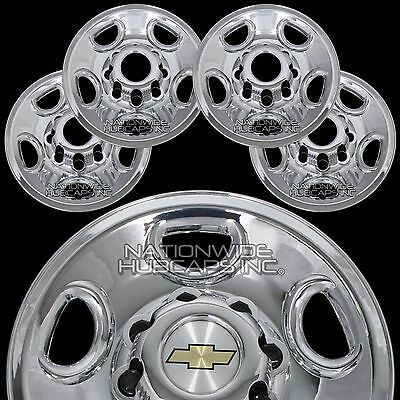 Viksee 17in Dually 8 Lug 4 Hand Hole Wheel Simulators Hub Caps Skins Liners Covers with Installation Kits /& Tools 4pcs Front+Rear Polished Stainless Steel