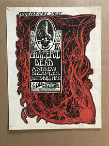 GRATEFUL-DEAD-Anniversary-Party-Old-Cheese-Factory-Mouse-FILLMORE-Handbill