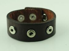 Echt Leder Chunk Armband für drei Chunks in Braun Chunkarmband AB61