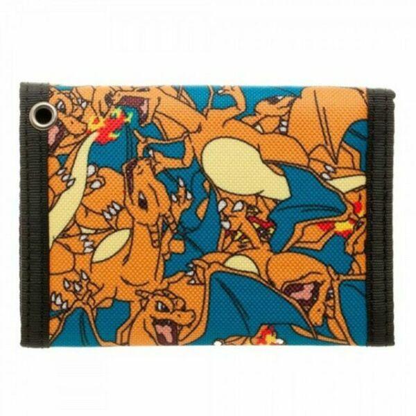 Pokemon Trifold Nylon Wallet Charizard Bioworld Official Wallet