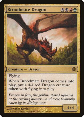 Broodmate Dragon Shards of Alara PLD-SP Black Red Green Rare MAGIC CARD ABUGames