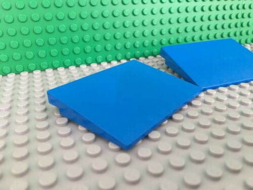 3x Lot LEGO Blue Slope 10 6 x 8 Roof Top Ramp Board 6763 6766 3433 #4515