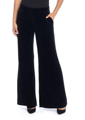 elasticizzato tasche gamba in 79 nero a pantalone Il velluto larga limitato con q0n7UvZw