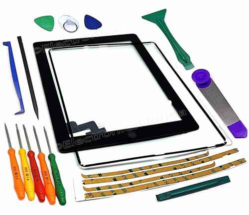 Touch Screen Glass Digitizer replacement for iPad 2 A1395 A1397 A1396 Black