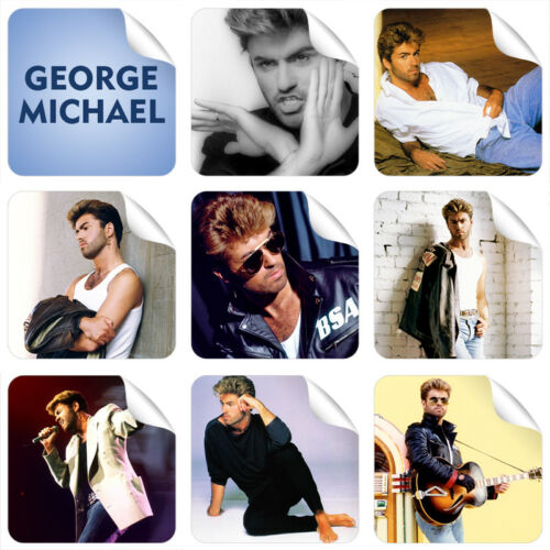 3 AUTOCOLLANTS Cadeau Gratuit NEUF George Michael 9 autocollants