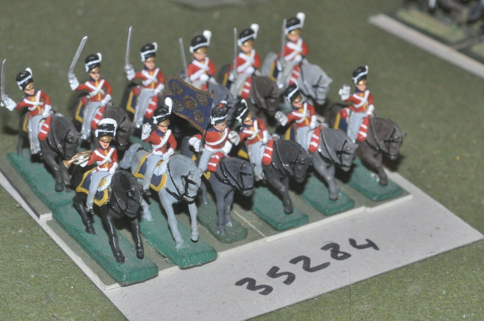 25mm napoleonic     british - scots greys 12 figures - cav (35284) 1b5