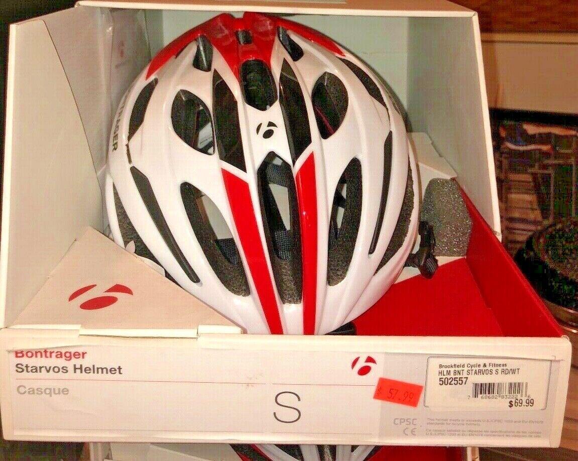 Bontrager Starvos - Size Small Bike Helmet 502557 - White Red