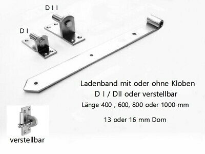 Ladenband Türband Torbänder Türbänder 800 mit 16 mm Kloben Schwarz Schmiedeeisen