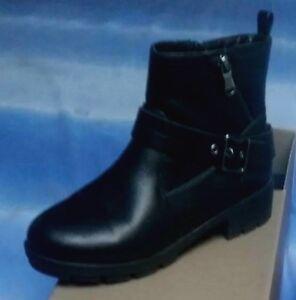 Dettagli su lotto 974 scarpe stivali bassi pelle nera anfibi donna BATA n.38