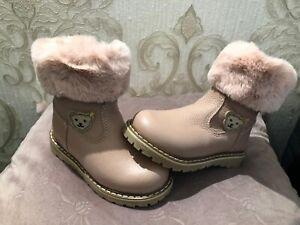 STEIFF Kinderschuhe Stiefel Winterboots rosa braun gefüttert Teddykopf Erica Neu