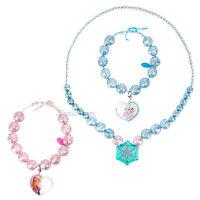 Disney Store Frozen Elsa & Anna 3 Pc Costume Jewelry Necklace Bracelet Set