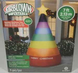 CHRISTMAS-SANTA-RAINBOW-PRIDE-TREE-7-FT-INFLATABLE-AIRBLOWN-YARD-DECORATION