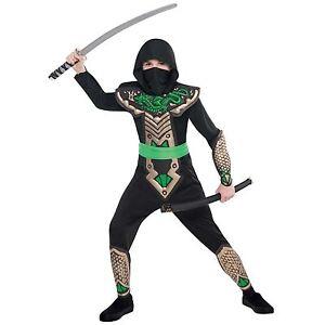 Boys Teen Wolf Knight Ninja Assassin Warrior Book Week Fancy Dress Suit Costume