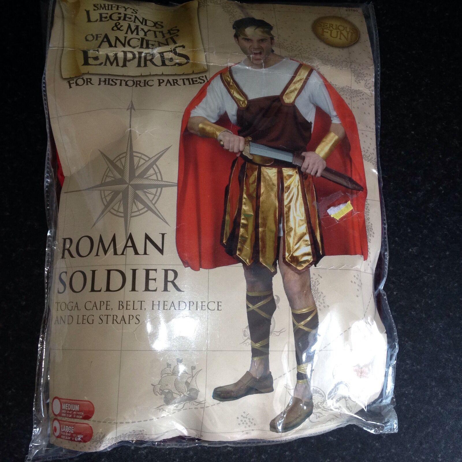 Smiffys ROMAN SOLDIER Legends Myths Fancy Dress Costume Adult Male Mens Toga Etc