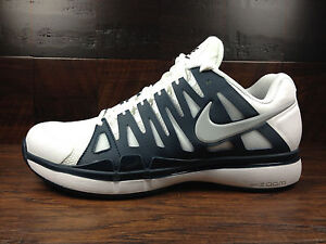 Image is loading Nike-Zoom-Vapor-9-Tour-White-Navy-Blue-