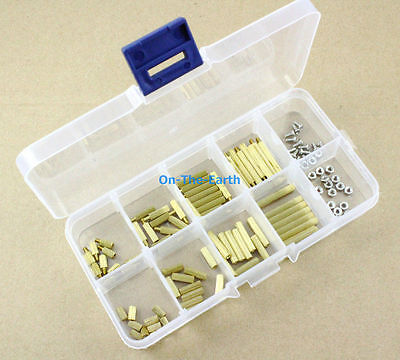 M2 Brass Spacer Standoff / Screw / Nut Assortment Kit