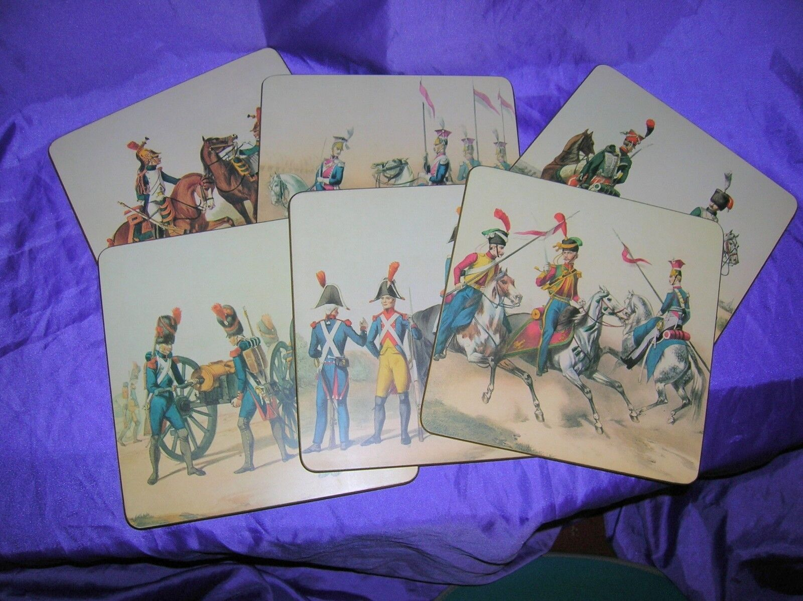Sheraton vintage place Mats Napoleon's IMPERIAL GUARDS Mélamine SUPERBE RARE