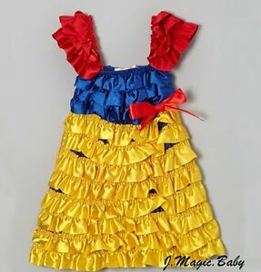 Snow-White-Princess-Baby-Girl-Satin-Dress-Costume-Halloween-Gift-Party-Cosplay