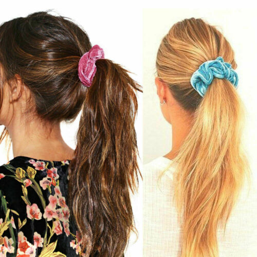 20PCS//Set Velvet Hair Scrunchies Elastic Scrunchy Bobbles Ponytail Holder Scrun