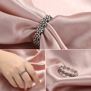 Women-Fashion-Vintage-Daisy-Flower-Ring-Jewelry-925-Silver-Plated-Girl-Gift