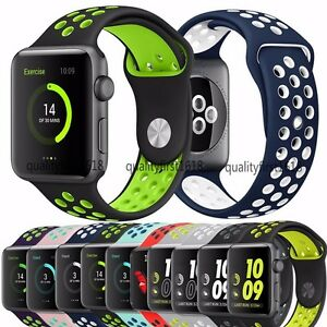 Apple Watch Replacement Band Silicone Sport Bracelet Strap for iWatch Series 2 1