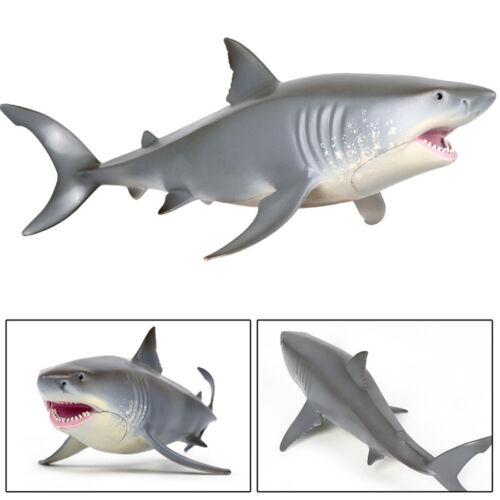 Great White Shark Megalodon Tiger Shark Ocean Animal Figure Collector Toy Gift