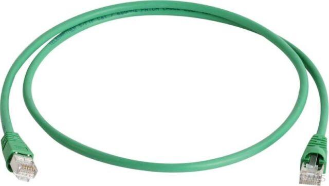 Telegärtner Câble Patch S/FTP 6A Vert 1,0m 1x180Grd L00000A0082