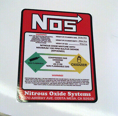 NOS Nitrous Oxide 15lb Bottle Label Decal Super High BEST Quality Decal//Sticker