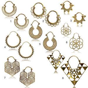 1 Paar Modeschmuck Creolen Gold mit Strass 9cm 0,3cm