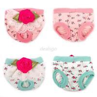 Pet Doggie Female Sanitary Panty Flower Lace Cotton Shorts Diaper Underwear D30