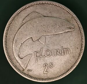 1939-Ireland-Eire-Irish-florin-two-shilling-coin-75-silver-coin-17644